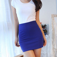 Minimum order for $6 High waist slim hip skirt short skirt a-line skirt step skirt candy color slim hip skirt