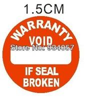 2800pcs/lot Warranty sealing label sticker void if seal broken, diameter 1.5cm, Item no.CU15, free shipping