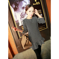 Princess 2013 fashion new trend ruffle hem houndstooth one-piece dress 8660 - - 522