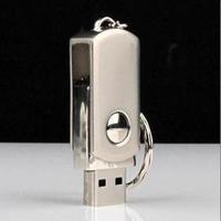 Gift metal usb flash drive 2gb rotary usb flash drive packaging