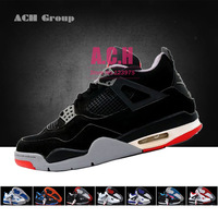 A+++ Quality classic brand J4 basketball shoes unisex IIII retro FEAR/ GREEN GROW/ OREO/ TORO BRAVO/ BLACK CAT 2013 release