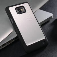 Ultrathin aluminum case for samsung galaxy S2 100% brushed metal Aviation aluminum back cover for galaxy s2+ free gift