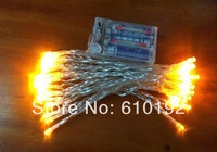 Free shipping 5pcs/lot Battery Power White 4M 40 LED String Party decorative Lights, Chritmas Wedding party Decoration Light