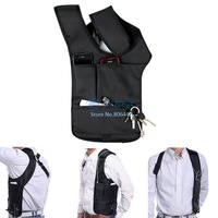 Anti-Theft Men Hidden Underarm Shoulder Bag Holster Black Nylon Multifunction Inspector Shoulder Bag Black 18484