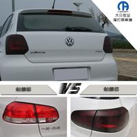 Volkswagen polo gti 6 cc car free black rear light membrane black translucent membrane film