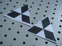Double MITSUBISHI car stickers carbon fiber front and rear emblem