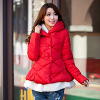 Autumn and winter A - shaped cloak type christmas princess dress down cotton-padded jacket female medium-long maternity clothing