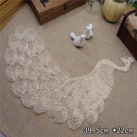 Wholesale Lot  Large size    Peacock  lace patch, DIY Sewing supplie    39.5*22cm
