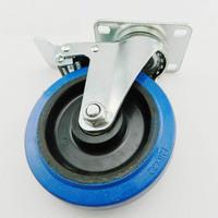 5 Inch polyurethane casters heavy duty universal rubber wheel industrial wheel load 120Kgs