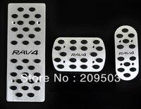 Aluminum Alloy Brake Fuel Foot Rest Pedals 3pcs\set For Toyota RAV 4 RAV4 AT 2006 2007 2008 2009 2010 2011