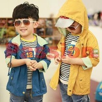 2013 new arrivals children's clothes Autumn boy cotton jacket windbreaker jacket  children coats and jackets free shipping