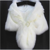 Luxury lady hood thick fur shawl cape winter thermal