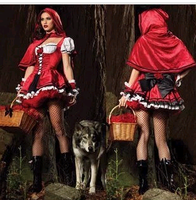 Free shipping 2014 sexy dress Little red riding hood halloween little red riding hood costumes Christmas clothes ds costume