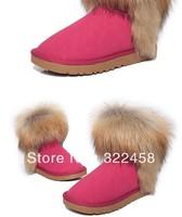 Imitation of fox fur boots