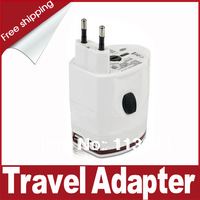 New Four-Standard Universal Travel AC Power Plug Converter Adapter with 2 USB Ports - EU,UK, USA, AU Standard