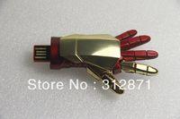 Free shipping 2013 most latest Iron man usb machine hand usb flash drive 1GB 2GB 4GB 8GB 16GB 32GB 64GB