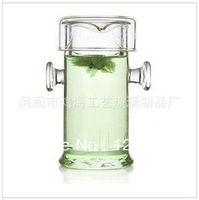 Heat resistant clear glass teapot with infuser 200ML free shipping
