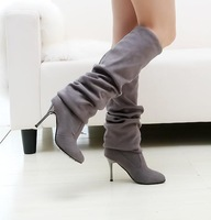 fashion over knee boots for women shoes woman new 2013 sexy high heels pumps winter autumn girls plus size Eur34-43 CSXX36747