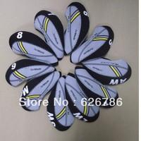 Free shipping,wholesale grey/black BZ new style waterproof golf iron cover,30 sets(10pcs/set)