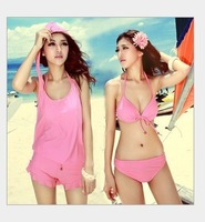 Free shipping 2013 New Sexy Women hot Bikini With Inside Pads Swimwear Swimsuit Beachwear