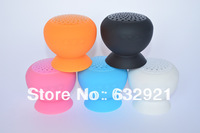 200pcs free shipping 6 Colors Mini Stereo Bluetooth Speaker Subwoofer Bass Sound Box for iPhone  Handsfree Mic Car Suction Cup