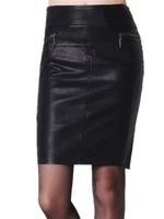 Free Shipping Women Medium-long  leather Skirt. Plus Size Slim Hip leather Skirt S-M-L-XL-2XL-3XL-4XL-5XL-6XL
