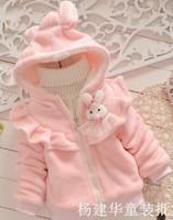 girl cartoon thick wool blends coats kids poly spun velour long full sleeve tops tees thermal winter overcoats