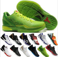 2013 Free Shipping Famous Trainers AIR Retro Men's Sports Basketball Shoes KB 6 SM18 multicolor jordanies