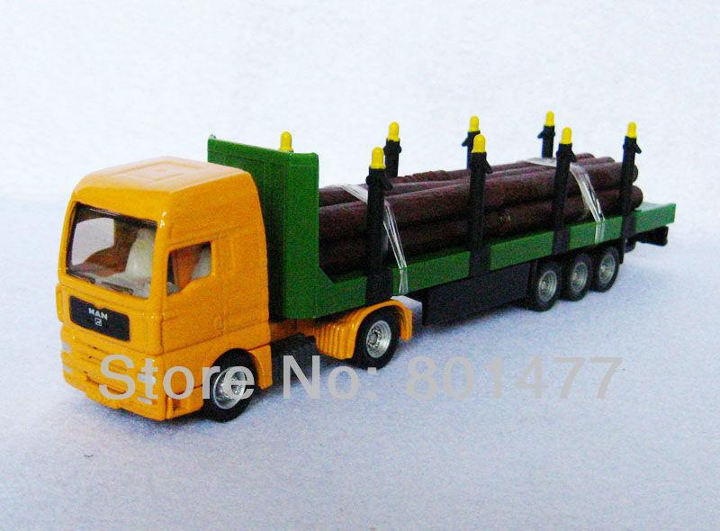 Man Log Transporter Yellow Siku Trucks Model 1:87 Scale Die cast New SC13,free shipping(China (Mainland))
