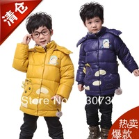 Hot-selling cartoon 2013 down cotton wadded jacket cattle children boy winter thickening down the boys cotton-padded jacket