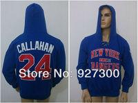 New York Rangers 24 Ryan Callahan Hockey Hoodies NHL Hoodie Light Blue CCM Jerseys Hoodie