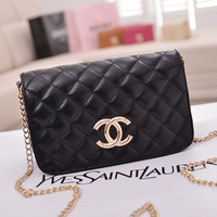 New Fashion Girls Korea PU Leather Bags Women Handbag Shoulder Bag Ladies Totes Purse With Chain