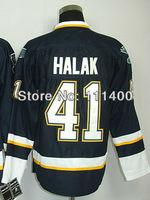 Free shipping 2013 new Jerseys Jaroslav Halak #41 Dark Blue Ice Hockey Jersey All Stitched Size 48-56 can mix order