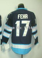 Free shipping Winnipeg #17 Eric Fehr Dark Blue Ice Hockey Jersey All Stitched MENS Size 48-56 Men's Hockey Jersey