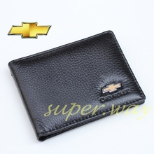 Leather Credit Card Holder Case Wallet Pocket Car Chevrolet Chevy Camaro Covette Cruze Spark Malibu Captiva Aveo(China (Mainland))