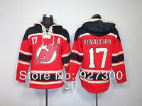 Hockey Hoodie New Jersey Devils #17 Ilya Kovalchuk Red w/ Black A Patch Hockey Hoodies Free Shipping High Quality