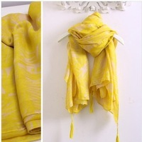 Qiu dong cotton thin yellow tassel scarf shawl fashion ladies scarf free shipping