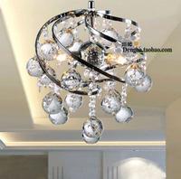 Free shipping Brief crystal lamp silver lamp aisle lights restaurant lamp aisle lights entrance lights coatroom pendant light