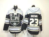 NHL Los Angeles Kings #23 Dustin Brown Black C Patch Old Time Hockey LA Hoodie Hoodies Ice Hockey Clothes