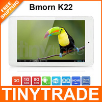 Free Shipping Bmorn K22 Quad Core 7 Inch 1280*800 IPS Screen Android 4.1 Tablet PC 1GB RAM 8GB ROM Wifi HDMI Dual Camera