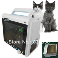 CMS6000B Veterinary 5-Parameter Patient Monitor,ECG,NIBP,SPO2,Respiration,Temperature, Vital Signs Monitoring Machine w/ Printer