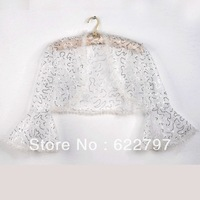 Free Shipping 1pc Leader Bridal Ivory/Red Brand Faux Fur Wedding Bridal Wrap Shawl Jacket Coat Bolero