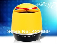MUSIC S05 Mini Wireless Bluetooth Speaker with TF Card Reader for moblie phone ,PC (Yellow)