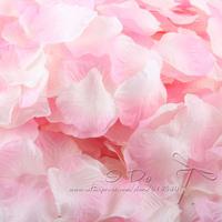 Free Shipping 1200pcs/lot Pink+White Rose Petals Wedding Table Decorations/Wedding Flower/Garden Supplies/Romantic