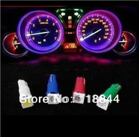 10pcs T5 1 5050 SMD Dashboard Gauge Wedge Car Auto 1 LED Light Bulb Lamp White Red Bule Green Free Shipping