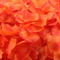 Free Shipping 1200pcs/lot Special Orange Rose Petals Wedding Table Decorations/Wedding Flower/Garden Supplies/Romantic