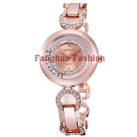 2013 best seller ladies bracelet watch with moving crystal