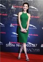 Runway Fashion Wholesale & Retail 2013 women's new foreign trade elegant green dress KC220 Slim  Free shipping