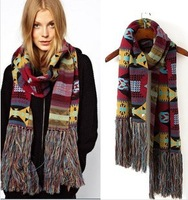 Free Shipping 2013 Euro Fashion New Arrival Hot Selling Geometric Style warming Scarf Brand 100% cotton Scarf  168cm length