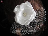 Free Shipping Elegant Timeless Bridal Fascinator Wedding Accessories Wedding Bridal flower with diamond